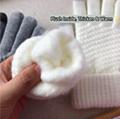 Winter Touch Screen Gloves Women Men Warm Stretch Knit Mittens Imitation Wool Fu