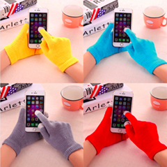 New Magic Touch Screen Gloves Smartphone Texting Stretch Adult One Size Winter