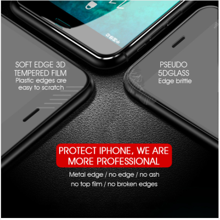 7D Aluminum Alloy Tempered Glass For iPhone 6 6S 7 Plus Full Screen Protector Pr 4