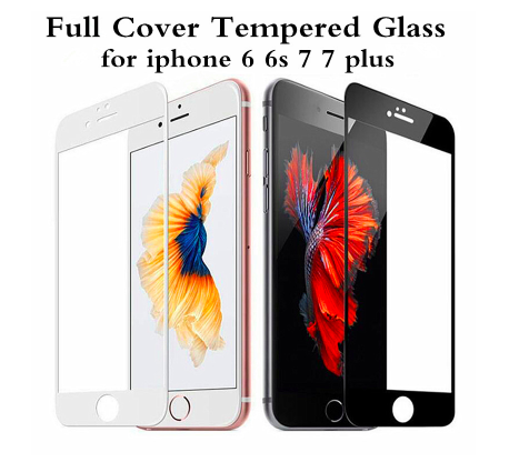 9H Full Coverage Cover Tempered Glass For iPhone 6 6s Plus Screen Protector Protective Film For iPhone 7 8 Plus X XS 5 5s 5c SE