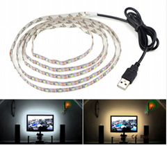 5V 50CM 1M 2M 3M 4M 5M USB Cable Power LED strip light lamp SMD 3528 Christmas d