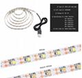 5V 50CM 1M 2M 3M 4M 5M USB Cable Power LED strip light lamp SMD 3528 Christmas d 3