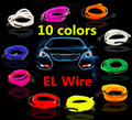 EL Wire Neon Light Novelty Light Neon LED lamp Flexible Rope Tube LED Strip String light Car Decoration With 6mm Sewing