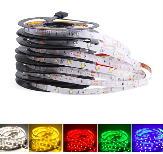 DC 12 V Volt Strip Led Light Tape 2835 RGB Waterproof 1 - 5 M 12V DC 60LED/M RGB Led Strip Tape Lamp Diode Flexible TV Backlight