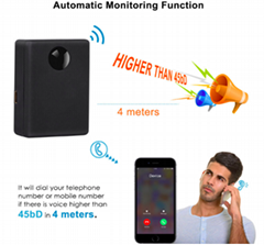 Listening Device GPS Tracker Personal Voice Activation Auto Answer Dial Mini