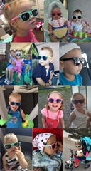 Colorful Flexible Kids Sunglasses Polarized Eyewears