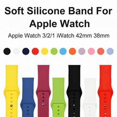 Sport Soft Silicone bands For Apple Watch 4 band Series 4 3 2 1 Watch Strap Band