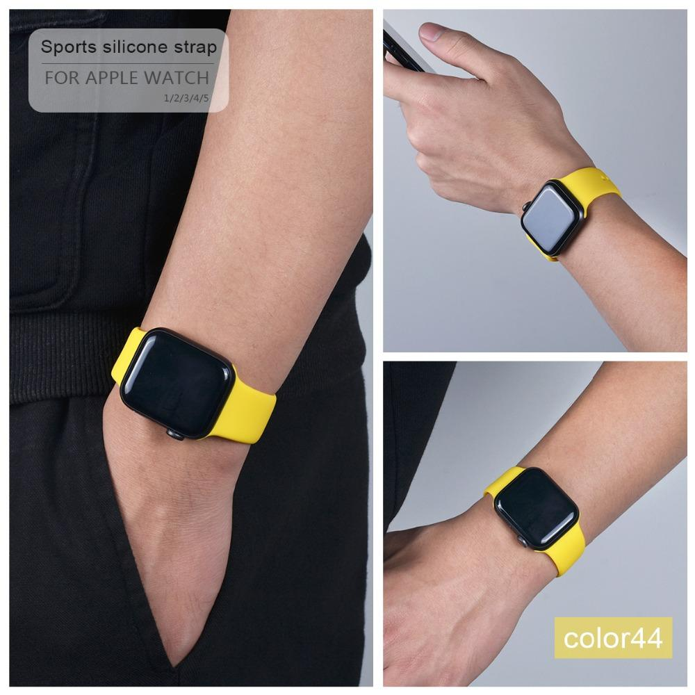 Sport Soft Silicone bands For Apple Watch 4 band Series 4 3 2 1 Watch Strap Band 4