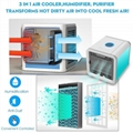 Mini USB Portable Air Cooler Fan Air Conditioner 7 Colors Light Desktop Air Cool 2