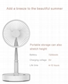New folding telescopic mini fan USB rechargeable student portable small electric 2