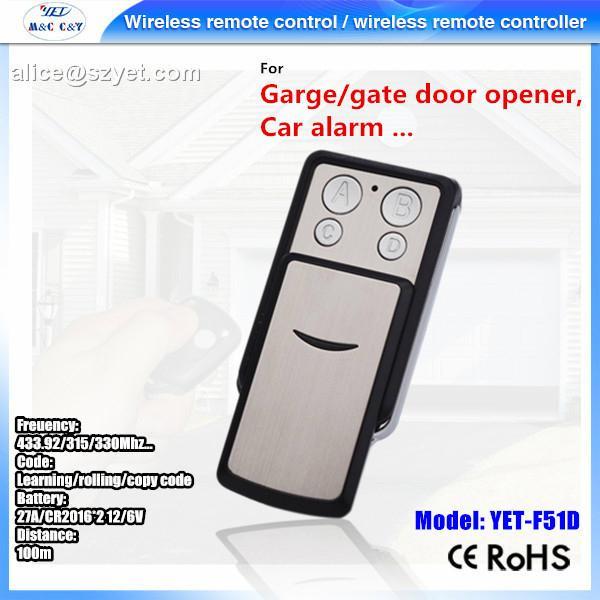 4 button metel remote control universal wireless transmitter 2