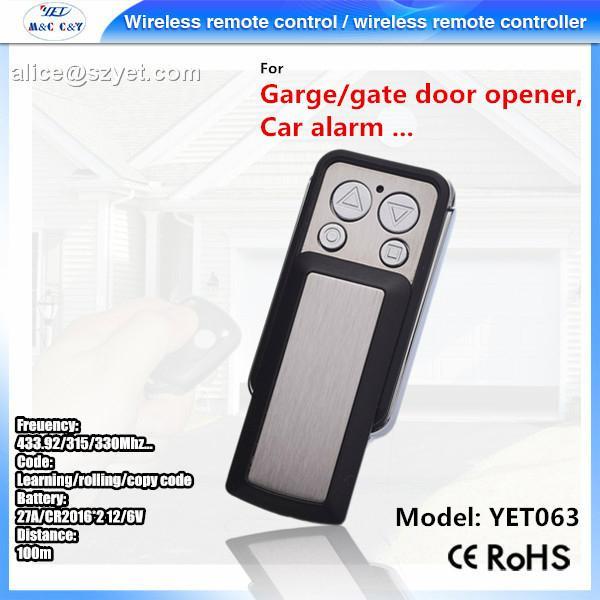 4 button metel remote control universal wireless transmitter 3