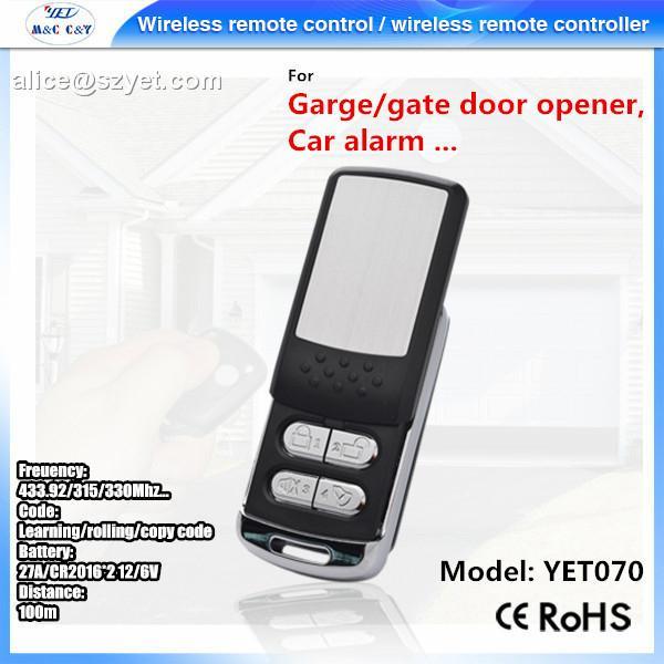 4 button metel remote control universal wireless transmitter 4