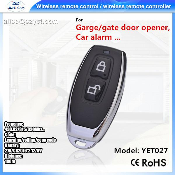 Learning Remote Control Switch 220V + Metel two push-button wireless remote cont 1