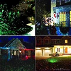red greenstatic decoration light elf fairy Christmas light outdoor garden laser