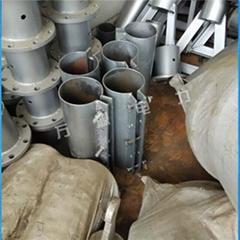 鋁合金三角立杆機分節加法蘭10米-15米線杆用