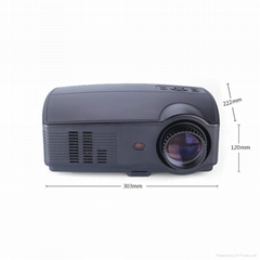 The Cheapest Projector with Multimedia TV HDMI USB Portable for Home Theater