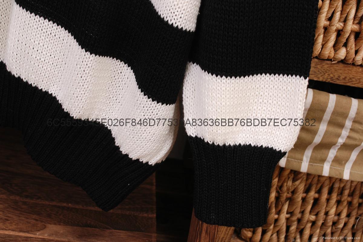 女式毛衣條紋間隔 1