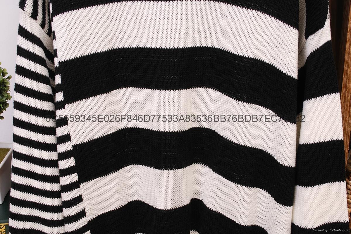 女式毛衣條紋間隔 4