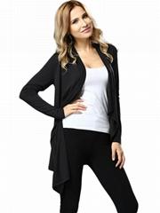 Black Fashion Open Stitch Outerwear