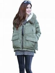 Green Women Winter Fashion Coat
