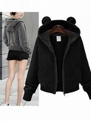Black Women Fashion Hooded Coat