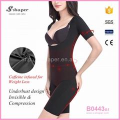 Women Underwear Waist Training Corset Caffeine Infused Bodysuit