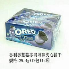 OREO  奥利奥蓝莓味冰淇淋巧克力夹心饼干