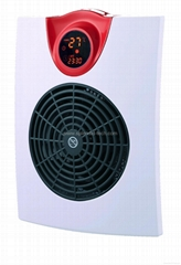 Bathroom fan heater with electronic control system and remote control
