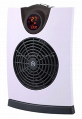 Digital fan heater with 120° oscillation remote control anti frost