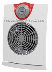 Fan heater with 120° oscillation IP21