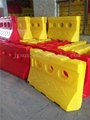 Rotational moulding water fill traffic safety crash barrier 1