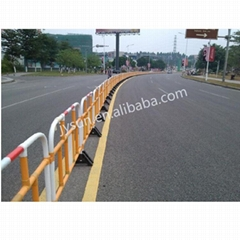 High Tenacity Temporary Yellow Road Safety PVC Traffic Barrier