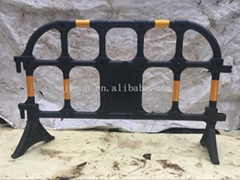 Plastic safety fence traffic barrier