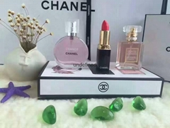 Mini fragrance gift set with perfume and lipstick 30ml