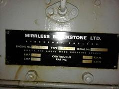 USED DIESEL MARINE ENGINE-MIRRLESS