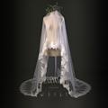 7 Dear White Retro New Model Marry Lace Long Wedding Veils 1