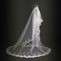 7 Dear White Retro New Model Marry Lace Long Wedding Veils 2