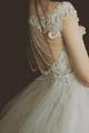 7 Dear White Elegant Lace Brigade Shots Wedding Dresses Chiffon V Neck  3