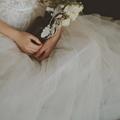 7 Dear White Elegant Lace Brigade Shots Wedding Dresses Chiffon V Neck  4