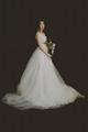 7 Dear White Elegant Lace Brigade Shots Wedding Dresses Chiffon V Neck  5