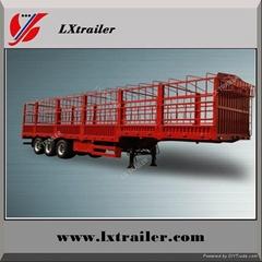3 axle box cargo fence semi trailer