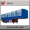 3 axle box cargo fence semi trailer 3