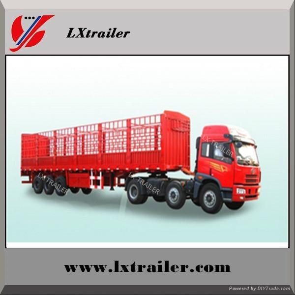 3 axle box cargo fence semi trailer 2