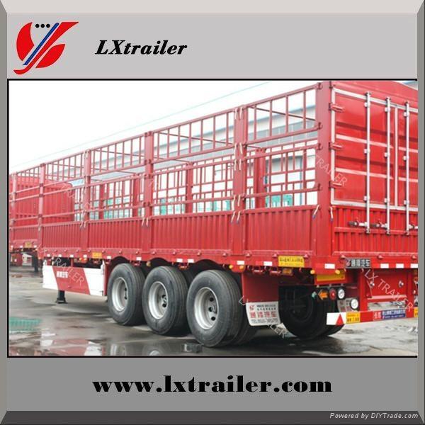 3 axle box cargo fence semi trailer 5