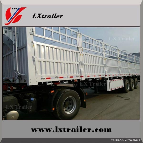 3 axle box cargo fence semi trailer 4