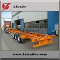 China Factory price 3 axles 40ft skeleton container semi trailer