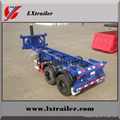 Container skeleton car hydraulic cylinder skeleton semi-trailer