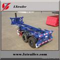 Container skeleton car hydraulic cylinder skeleton semi-trailer