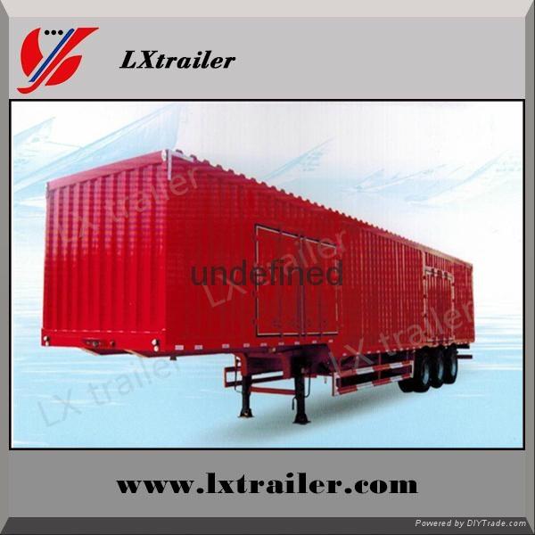 Shandong liangshan 40ton 3 Axles box type semi trailer 1